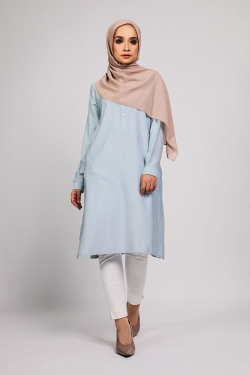 Aamily Tunic - Light Blue
