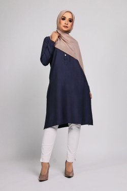Aamily Tunic - Navy Blue