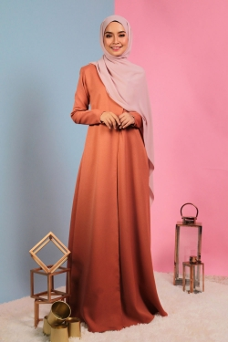 Aiyanna Jubah - Orange Brown