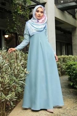 Arianna Al-Madinna Jubah - Dusty Blue