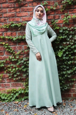 Arianna Al-Madinna Jubah - Light Green