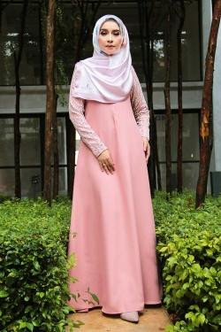 Arianna Al-Madinna Jubah - Peach Pink