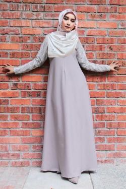 Arianna Al-Madinna Jubah - Smoke Gray