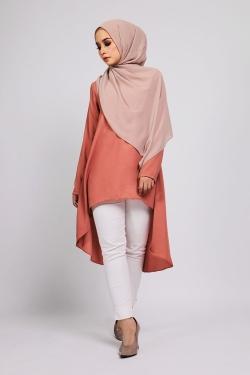 Amnaa tunic - Orange Brown
