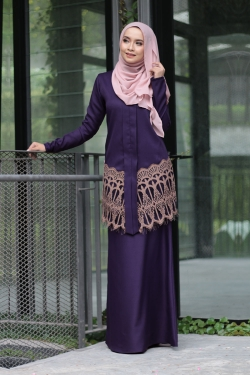 Anella Lace Kebaya - Dewberry Purple