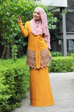 Anella Lace Kebaya - Mustard