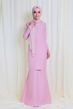 Arianna Glitters Pearl Kurung - Dusty Pink