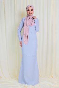 Arianna Glitters Pearl Kurung - Lavender Hush