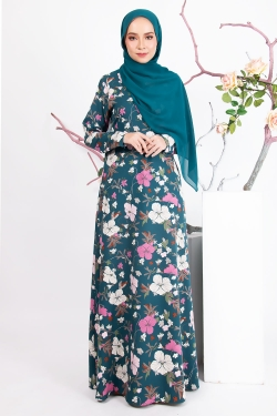 AAMILY PRINTED JUBAH - TURQUOISE