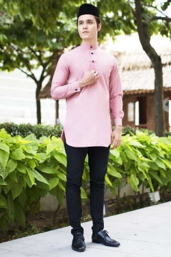 Aariz Kurta - Dusty Pink