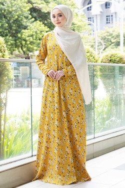ADALILLY PRINTED JUBAH - PINEAPPLE