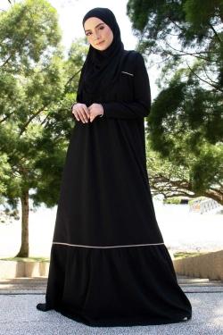 Adeliaa Jubah - Black