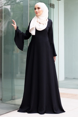 ADELINEE DRESS - BLACK