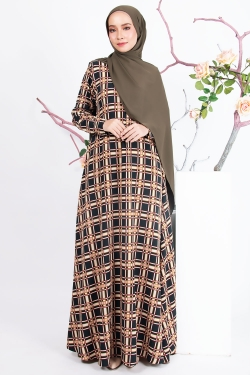 ADRINAA PRINTED JUBAH - EMERALD GREEN