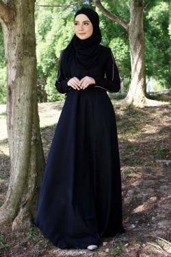 Afrinaa Jubah - Black