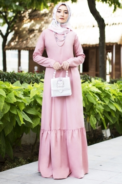 Agnesee Jubah - Dusty Pink