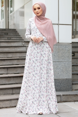 ALEXIAA PRINTED JUBAH - OFF WHITE