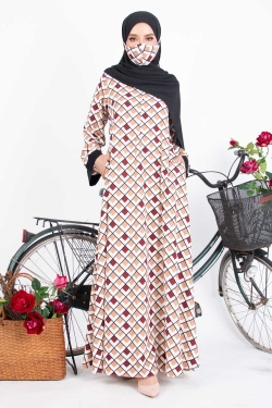 ALIEESSY PRINTED ABAYA - PLAID