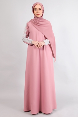 ALRAANDECY JUBAH 14.0 - BLUSH PINK