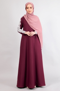 ALRAANDECY JUBAH 14.0 - BURGUNDY
