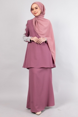ALRAANDECY KURUNG - PLUM