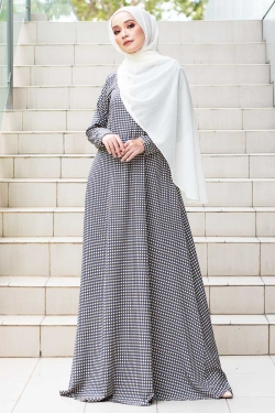 ALREENA PRINTED JUBAH - AVOCADO