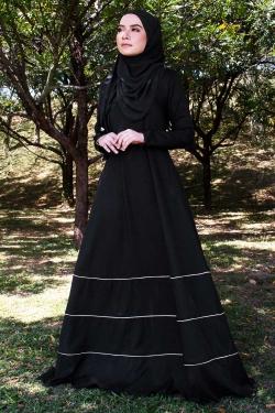 Amaniaa Jubah - Black