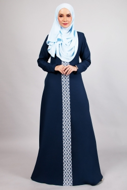 ANDDY LACE JUBAH - NAVY