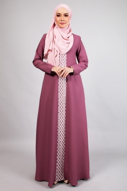 ANDDY LACE JUBAH - PLUM