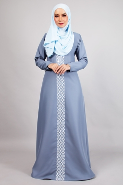 ANDDY LACE JUBAH - POWDER BLUE
