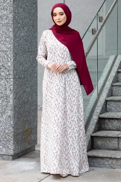 ANDRESSY PRINTED JUBAH - OFF WHITE