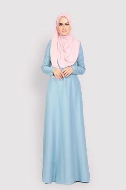 ANEETA 2.0 jubah - DUSTY BLUE