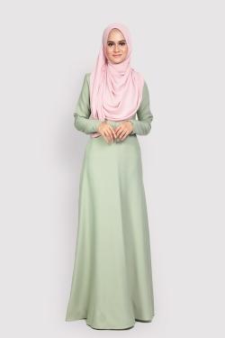 ANEETA 2.0 jubah - DUSTY GREEN