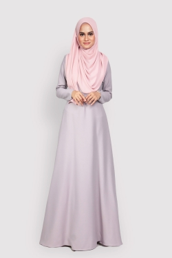ANEETA 2.0 jubah - LIGHT GRAY