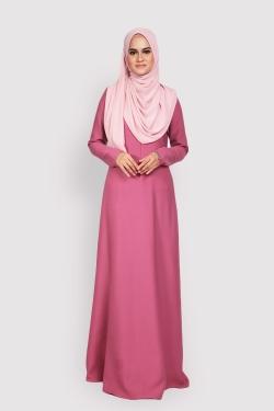 ANEETA 2.0 jubah - ROSE PINK