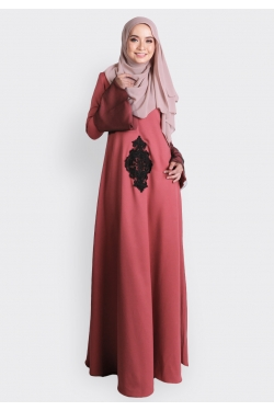 ANNEBERRY JUBAH - CORAL RED