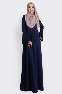 ANNEBERRY JUBAH - NAVY BLUE
