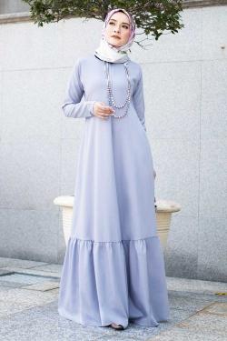 Agnesee Jubah - Aqua Blue