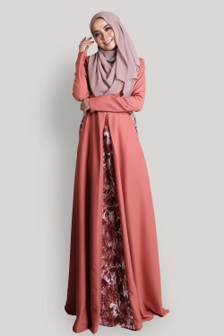 Arabella Jubah - Dark Peach