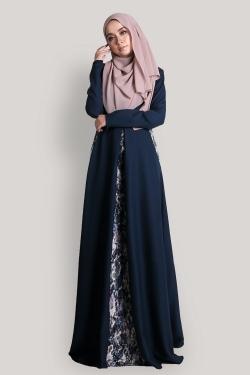 Arabella Jubah - Prussian Blue
