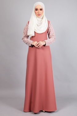 ARIANNA LACE JUBAH 4.0 - BRONZED ROSE