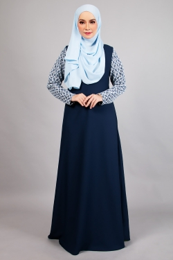 ARIANNA LACE JUBAH 4.0 - NAVY