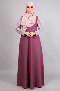 ARIANNA LACE JUBAH 4.0 - PLUM