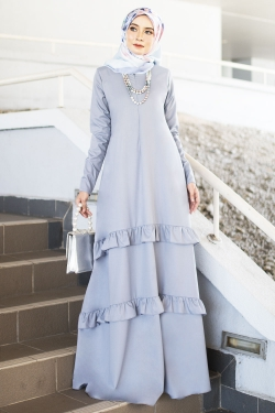 Arlenee Jubah - Light Grey