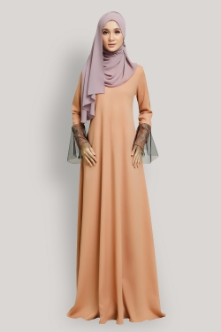 ARROSELLA JUBAH - DARK PEACH