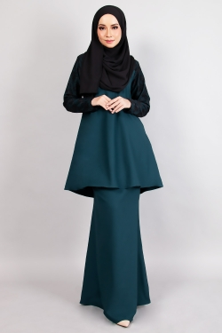 ARROSE LACE KURUNG - EXCLUSIVE EMERALD GREEN