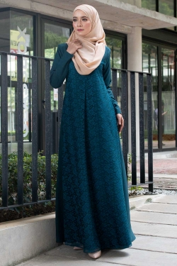 ATHENAA LACE JUBAH - EXCLUSIVE EMERALD GREEN