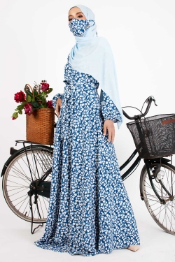 ATRIVIAA PRINTED DRESS - SKY BLUE