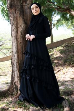 Auliyaa Jubah - Black