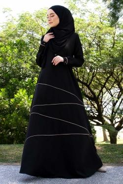 Azaliaa Jubah - Black